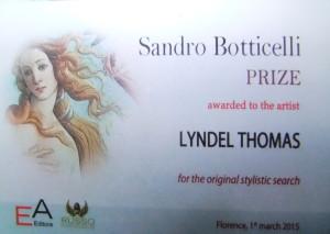 SANDRO BOTTICELLI AWARD copy