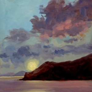 Lyndel Thomas_Under a Skopelos sun_Oil on Panel_21.59cm x 21.59cm JPG