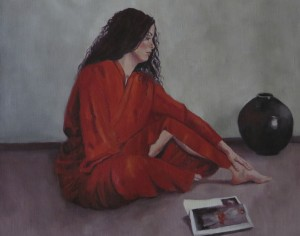 AMORE ROSSO - Oil on canvas